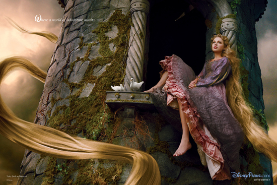 Exclusive First Look: New Annie Leibovitz Disney Dream Portrait Featuring Taylor Swift as Rapunzel