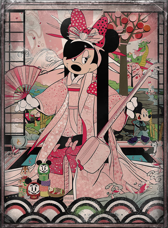 'Kimono Minnie' Artist Signing at WonderGround Gallery with Sean DAnconia
