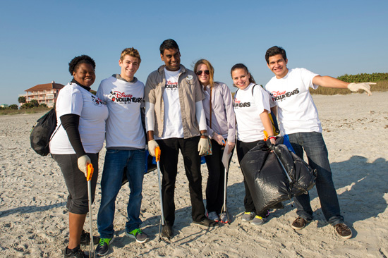 Disney VoluntEARS Spend 'A Day at the Beach' to Help Keep Florida's Coastline Clean