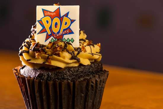 Celebrate Elvis' Birthday With The King Cupcake at Disney's Pop Century Resort at Walt Disney World Resort