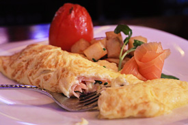 Smoked Salmon Omelette at Raglan Road Irish Pub &#038; Restaurant Sunday Brunch at Downtown Disney Pleasure Island