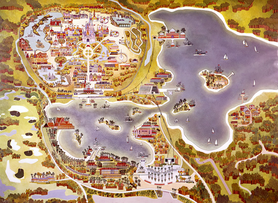 Vintage Walt Disney World: Old Maps of Walt Disney World Resort