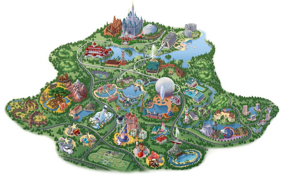 Vintage Walt Disney World Old Maps of Walt Disney World Resort My Take On