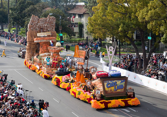 Rose Parade Fans Floored by 'Destination: Cars Land' Float