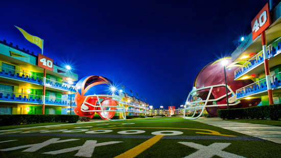 The Touchdown! Section of Disneys All-Star Sports Resort