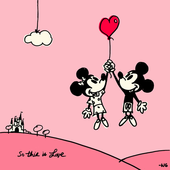 Mickey & Minnie 'So This Is Love' Wallpaper