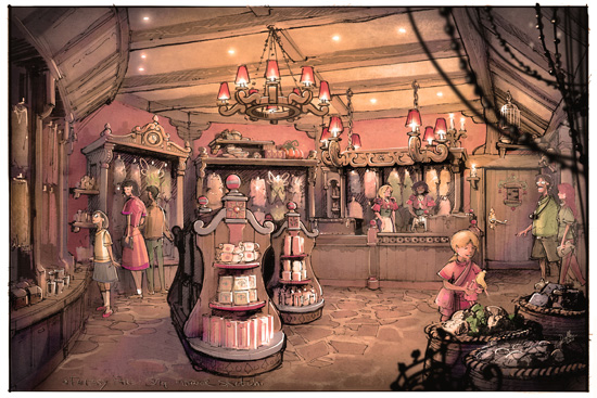 Fairy Tale Treasures at Fantasy Faire in Disneyland park