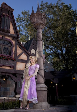 Rapunzel Visits Her New Home at Fantasy Faire in Disneyland Park