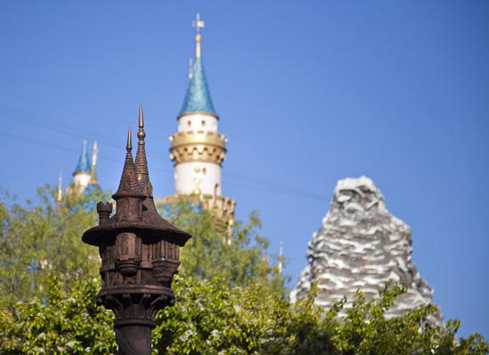 A Photo From Behind the Wall of Fantasy Faire at Disneyland Park
