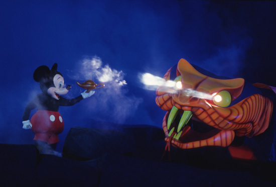 Caption This: Mickey's 'Fantasmic!' Conversation at Disney's Hollywood Studios