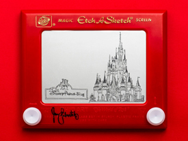 'Princess Etch A Sketch' Art by Jane Labowitch, Featuring Cinderella Castle
