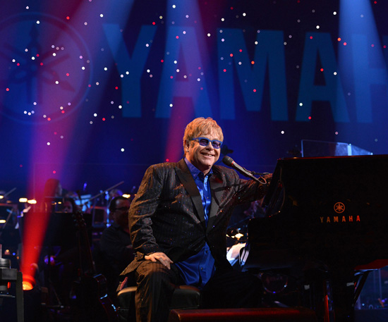 Elton Performs at the Hyperion Theater for Yamahas 125th Anniversary Concert