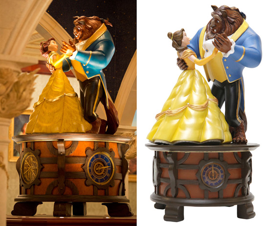 Figurine Replica of the Beauty and the Beast Music Box in Be Our Guest Restaurant