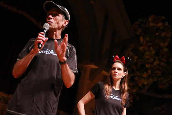 runDisney's Jeff Galloway and Tara Gidus at the Princess Half Marathon Meet-Up at Walt Disney World Resort