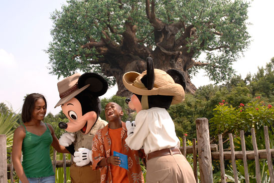 Meet Mickey and Minnie at the New Adventurers Outpost in Disneys Animal Kingdom