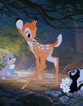 Artist William Silvers Will Appear at Off the Page Inside Disney California Adventure Park for a Special ACME Archives Sericel Event - Including 'Bambi's New Friend,' One His Newest Hand-Painted Sericels