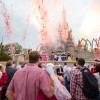 Couples celebrate Valentine's Day at Magic Kingdom Park.