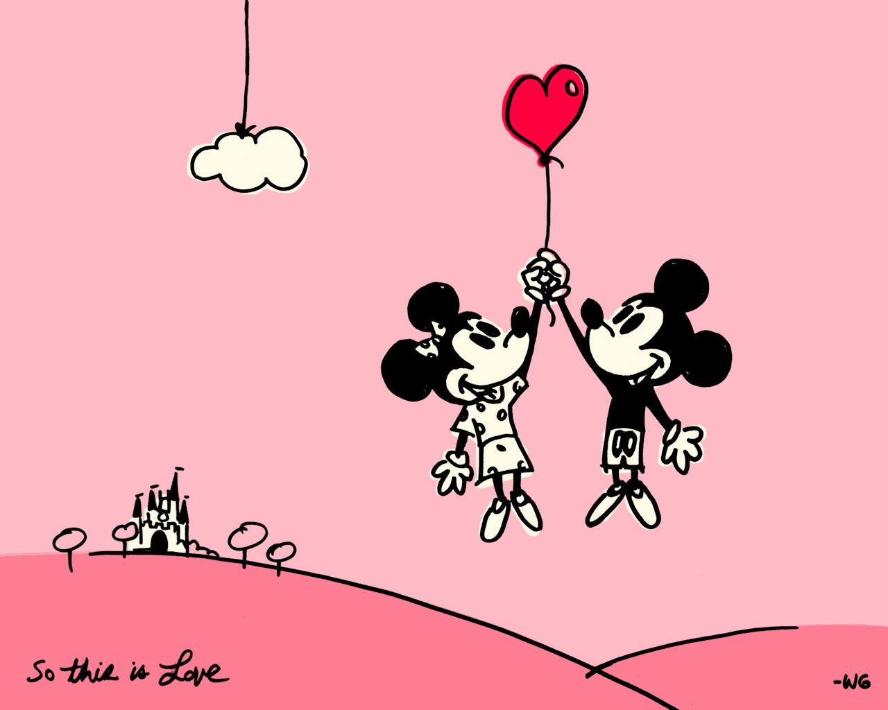so this is love' : 【ディズニー】ミッキーマウスのpcデスクトップ壁紙