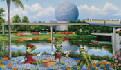 'Mickey and Minnie Picnic' by Artist Larry Dotson