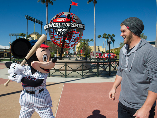 A Pair of All-Stars: Mickey and 'The Kid' at ESPN Wide World of Sports at Walt Disney World Resort