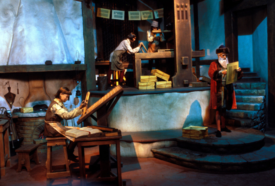 Caption This: Printing History at Spaceship Earth at Epcot