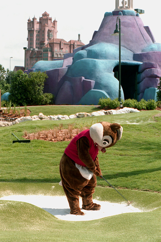 Caption This: Dale Visits the Sand Trap at Fantasia Gardens Miniature Golf Course at Walt Disney World Resort