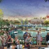 LAKE BUENA VISTA, Fla., March 12, 2013 – As part of Disney Springs, the family-friendly Marketplace (as shown in this conceptual rendering) will continue to delight guests of all ages and include new experiences, such as an over-the-water pedestrian causeway.