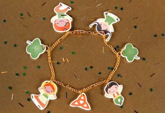 Make Your Own 'it's a small world' Ireland Charm Bracelet for St. Patrick's Day