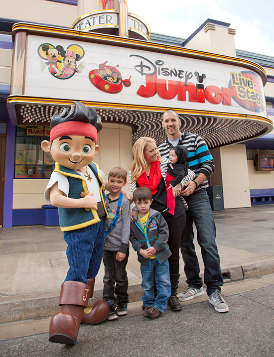 Melissa Joan Hart and Family Meet Jake at Disney California Adventure Park