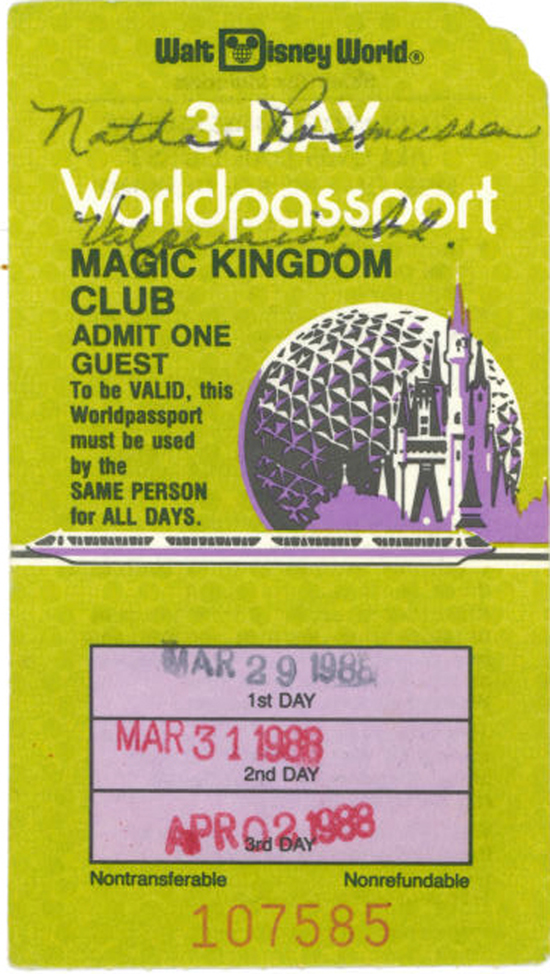 Vintage Walt Disney World: Whats Your Ticket?