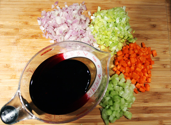 An At-Home Demonstration: Red Wine Sauce Ingredients - Recipe for Disney Cruise Line's Osso Bucco