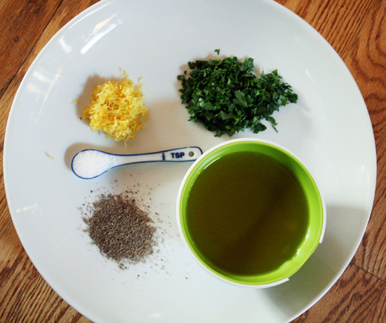 An At-Home Demonstration: Gremolata Ingredients - Recipe for Disney Cruise Line's Osso Bucco