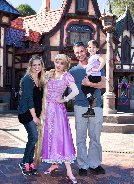 Sarah Michelle Gellar and Freddie Prinze, Jr., Preview Fantasy Faire at Disneyland Park