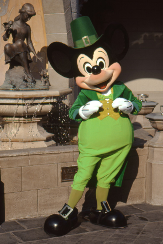 Vintage Walt Disney World: Mickey Celebrates St. Pattys Day