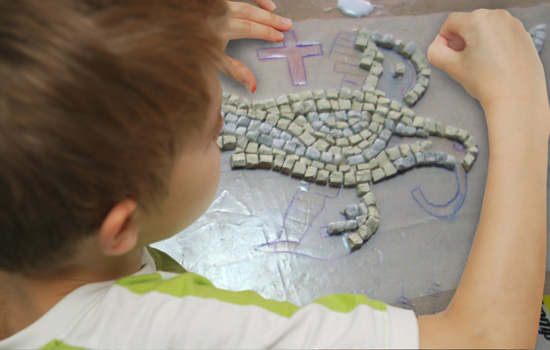 Mosaic Activity in Mykonos - Disney Cruise Line Youth Activities in Europe