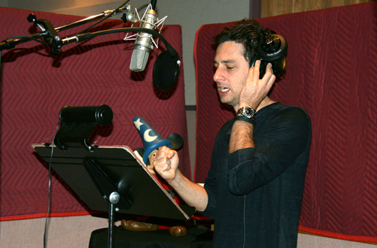 Behind the Scenes with Zach Braff at Oz The Great and Powerful Exclusive 4D Sneak Peek