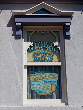 Windows on Main Street, U.S.A., at Disneyland Park: Jim Cora