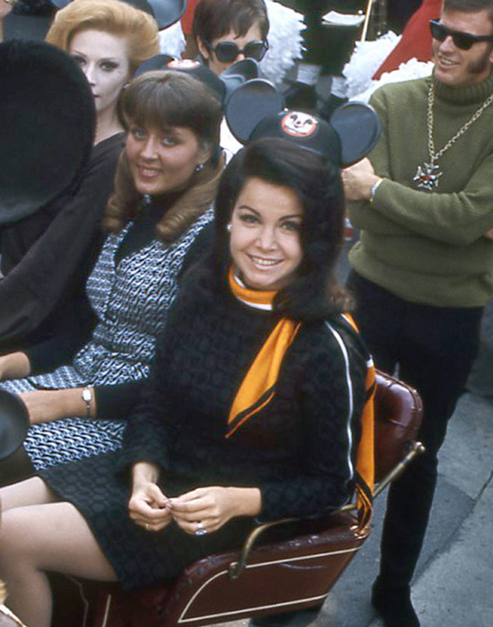 Annette Funicello at a 1968 Mouseketeer Reunion at Disneyland Park