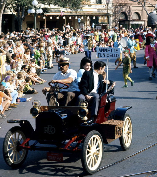 Annette Funicello with her Family at Disneyland Park
