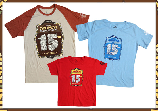T-Shirts for the 15th Anniversary of Disney's Animal Kingdom