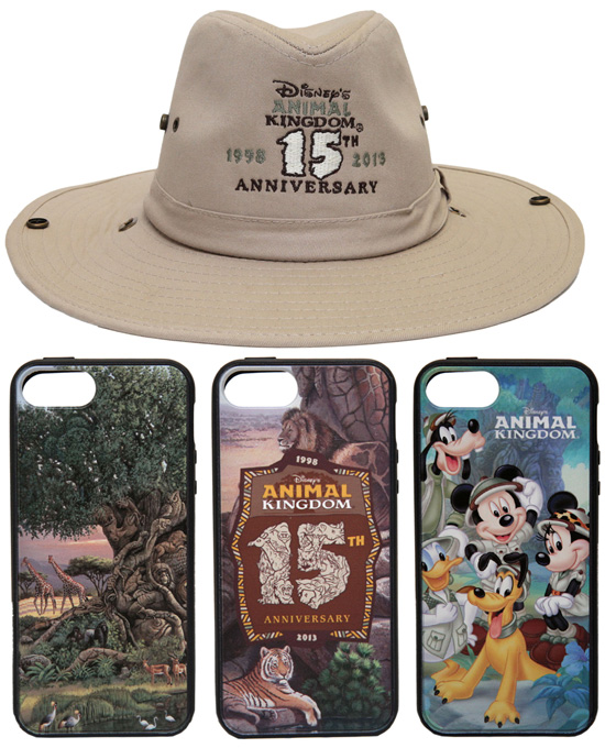 Merchandise for the 15th Anniversary of Disney's Animal Kingdom