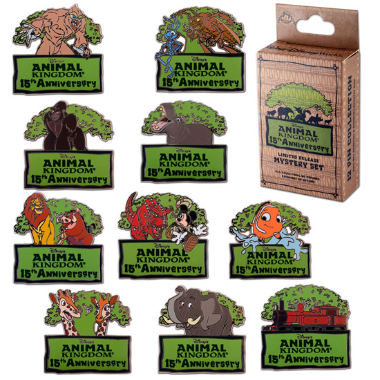 Pins for the 15th Anniversary of Disney's Animal Kingdom