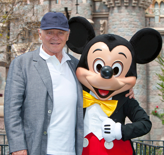 Anthony Hopkins Visits Disneyland Park