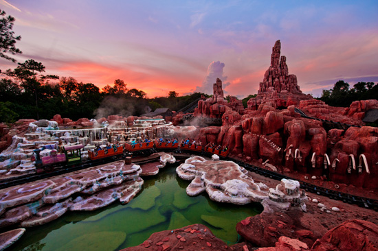 Disney Parks After Dark: Riding Big Thunder Mountain Railroad at Dusk
