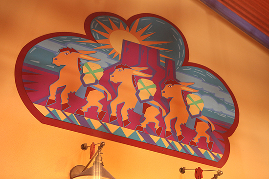 Playful Animals Fill the Sky Inside Island Mercantile at Disney's Animal Kingdom Theme Park