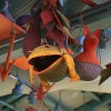Fish And Frog Baskets And Other Playful Animals Fill the Sky Inside Island Mercantile at Disney's Animal Kingdom Theme Park