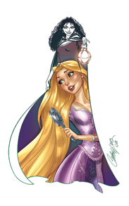 Her Hair Featuring Rapunzel and Mother Gothel by Artist J. Scott Campbell Will be Available Later This Month