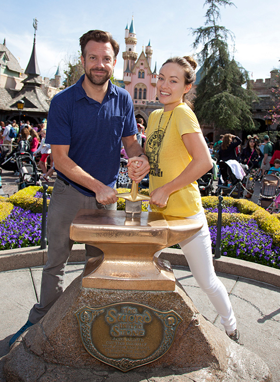 Olivia Wilde and Jason Sudeikis Visit the Disneyland Resort
