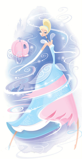 Cinderella in Magical Makeover by This Months WonderGround Gallery Artist in Residence, Jeff Granito