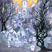 Michelle St. Laurent - Hitchhiking Ghosts, at Art of Disney in the Downtown Disney Marketplace
